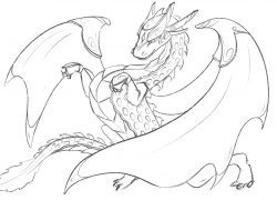 Drachenmotive als Ausmalbild und Malvorlage